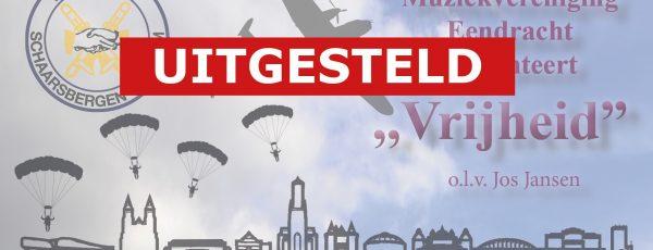 Concert Muziekvereniging Eendracht Schaarsbergen uitgesteld